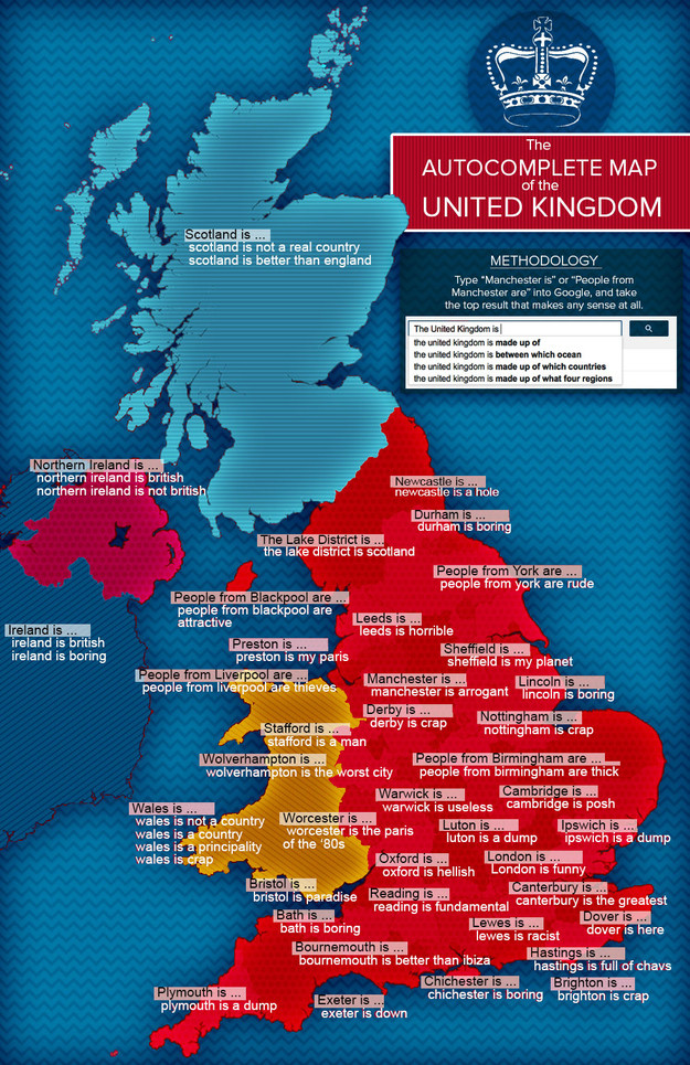 Map Of England Joke.Crap Towns The New Hunt For The Worst Places To Live In The Uk